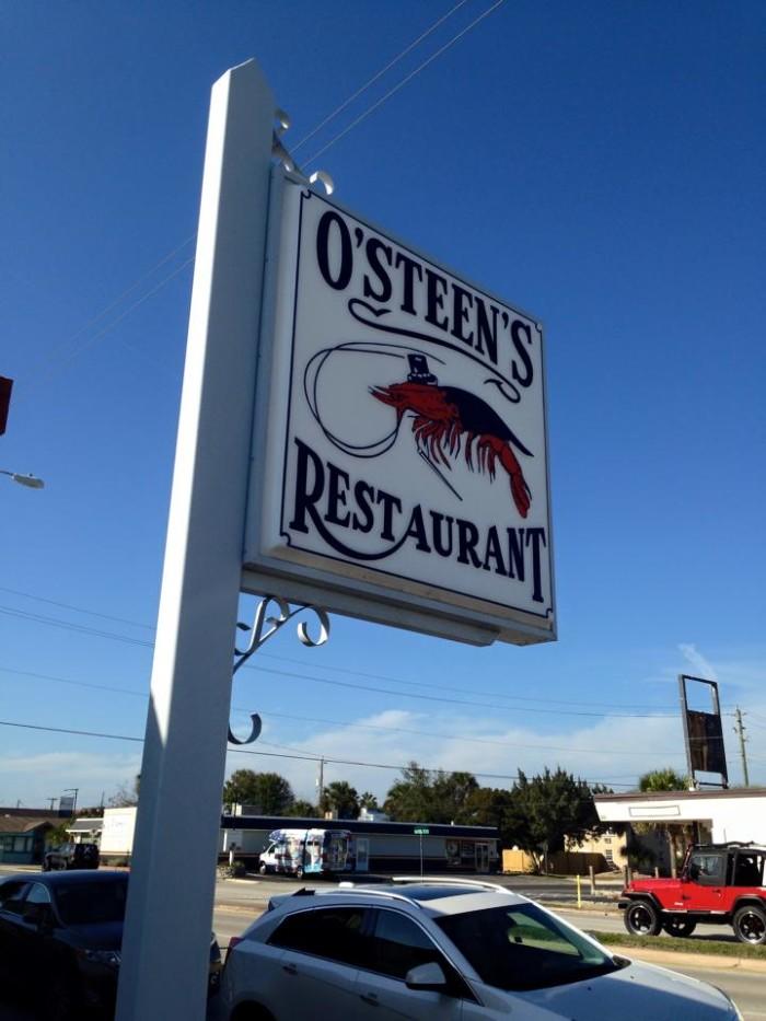 12. Fried Shrimp at O'Steen's Restaurant
