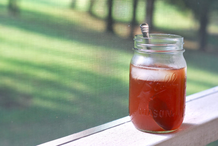 11. Unwind with an ice cold glass of sweet tea, preferably on a front porch.