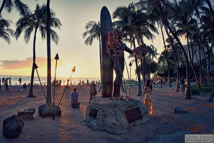 11. Waikiki is the birthplace of modern surfing: the father of modern surfing, Duke Kahanamoku grew up in Waikiki, where the Royal Hawaiian Hotel stands today.