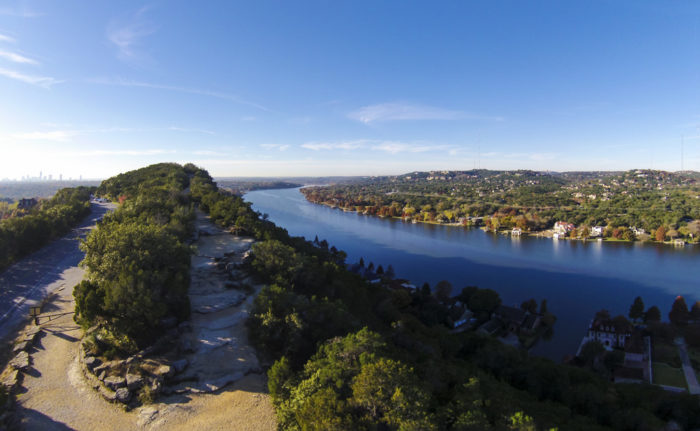 7. This is a unique view of Austin which includes Mt. Bonnell, Westlake area, Lake Austin, and a bit of Downtown Austin.