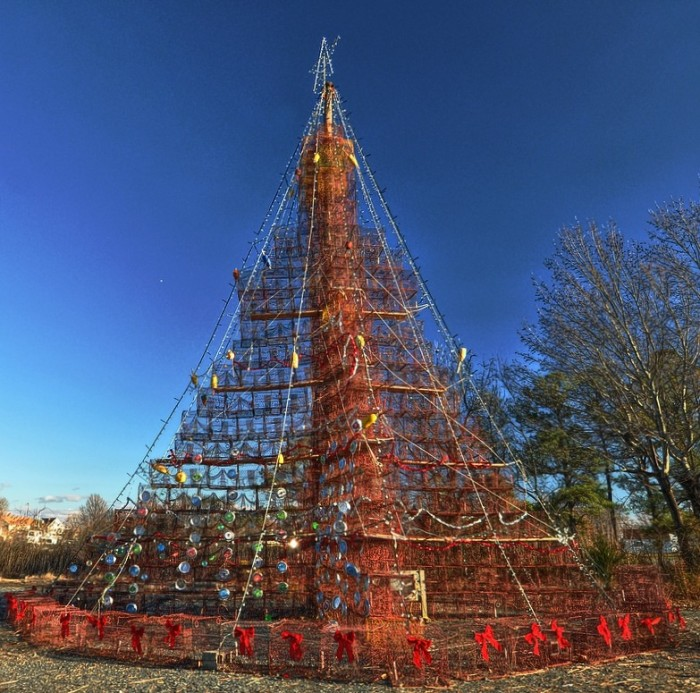 8. Quirky and nautical Christmas decor. Like this crab pot tree in Tilghman Island...