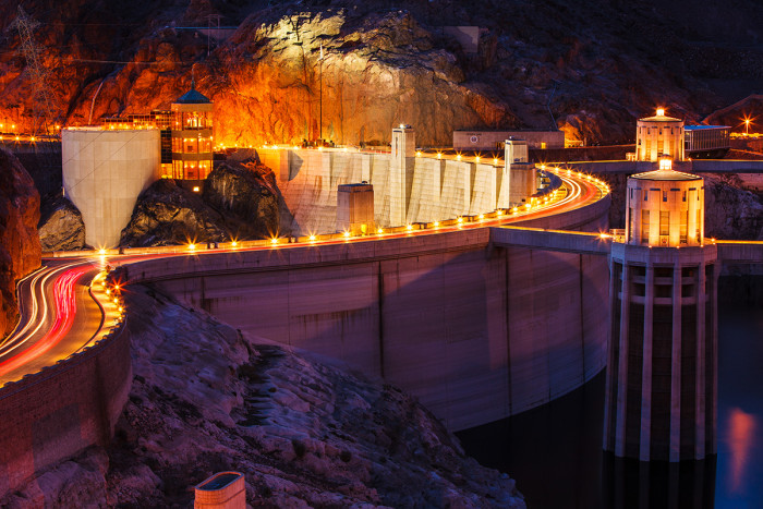 3. The one and only Hoover Dam is located in the Silver State.