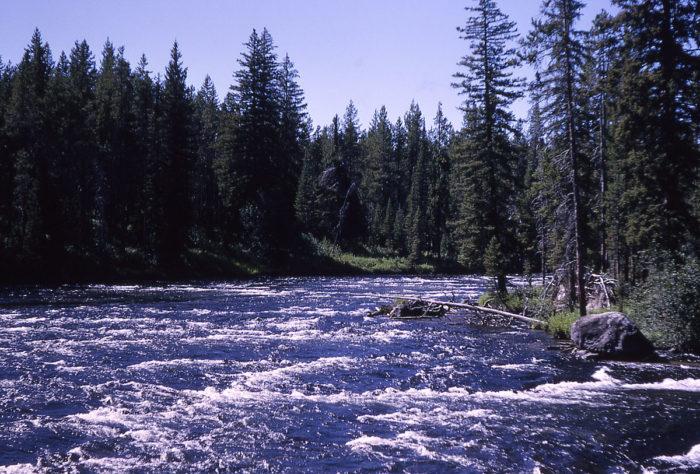 8. Bechler River has 1 island.