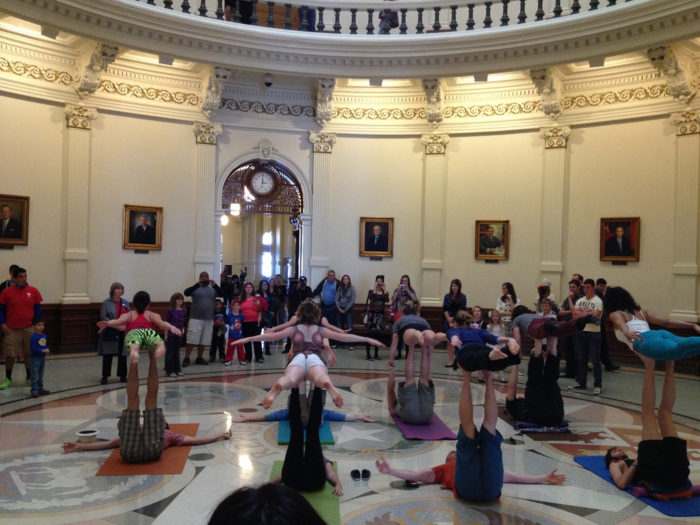 8. The yoga community.