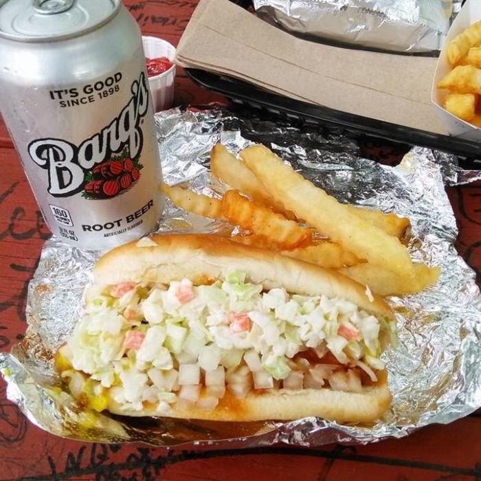 2. Chili and Slaw Dogs