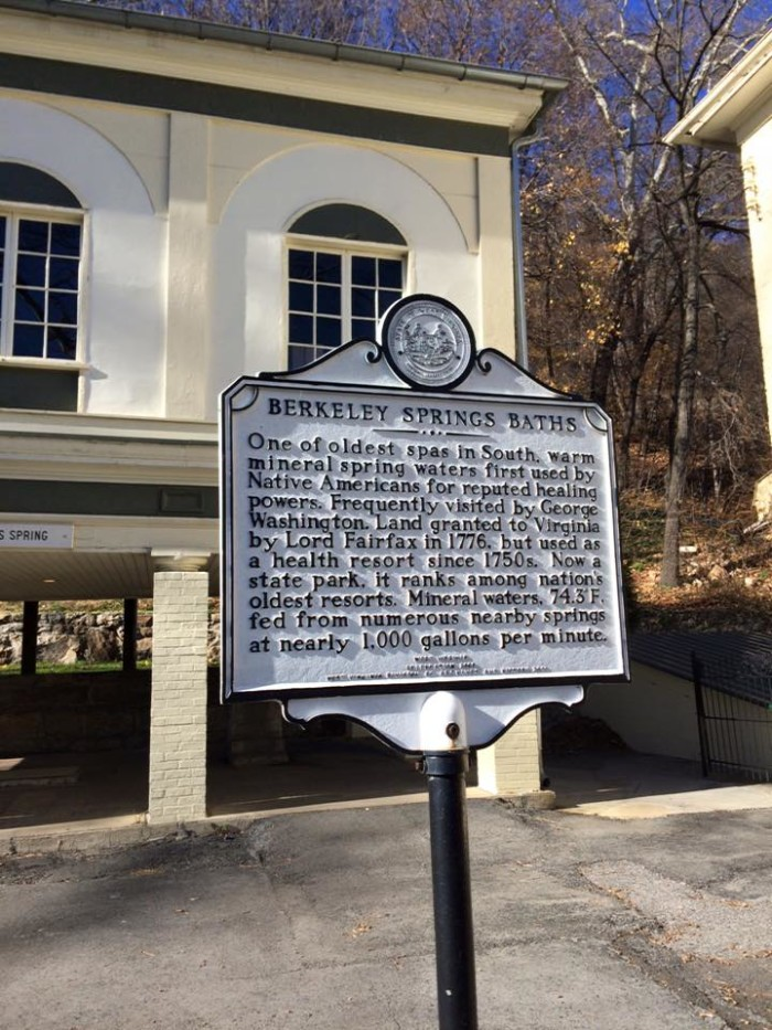 1. This is the Berkeley Springs State Park sign.