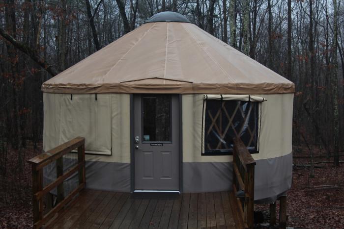 7. Yurts at Cloudland Canyon State Park