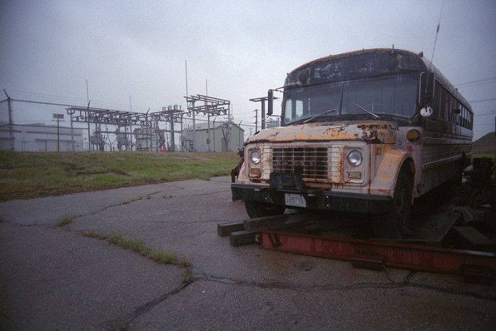 11. This decaying bus and power plant in North Kingstown could be a scene from a post-apocalyptic thriller.