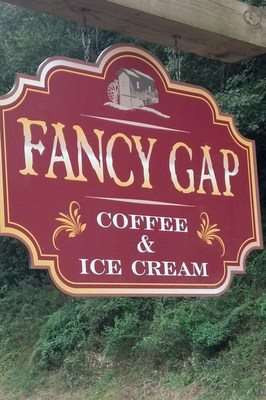Good morning! Sip a nice cup of coffee at Fancy Gap Coffee & Ice Cream.