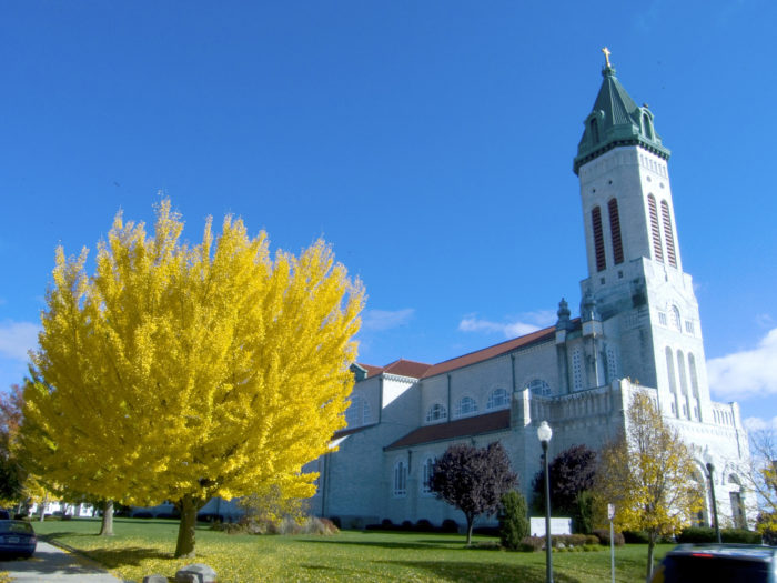 16. This church in Putnam is reminiscent of a West Coast missionary, but is a hundred percent Connecticut!