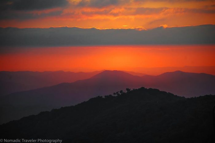 9. Gorgeous rich colors rolling over the Blue Ridge Mountains, a view that never gets old.