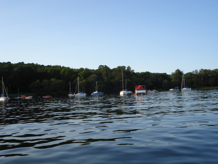 4. Bantam Lake is shared by Morris and Litchfield and is great for sailing and ice fishing.