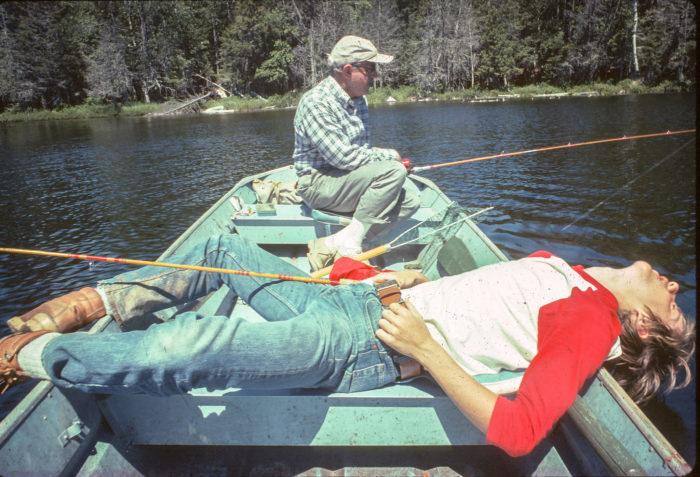 5. Enjoying the good life on Nahmakanta Lake in the early 1970s.