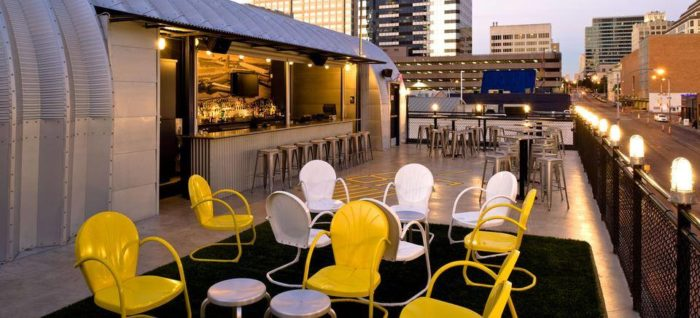 9. People in the city swarm Hangar Lounge for their yummy everything...food, drink, and check out that rooftop patio!
