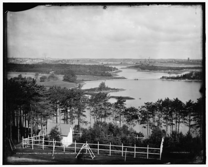 10. Portsmouth and the Navy Yard are captured from the Wentworth Hotel in New Castle.
