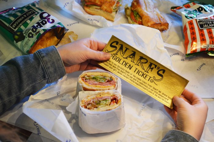 11. Yes, Snarf's Sandwiches is a small chain restaurant...but It's definitely welcome here with those tasty bites!