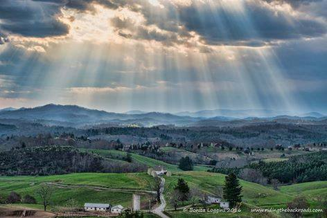 5. A spring storm rolling through the Blue Ridge creates a calming yet dramatic scene.