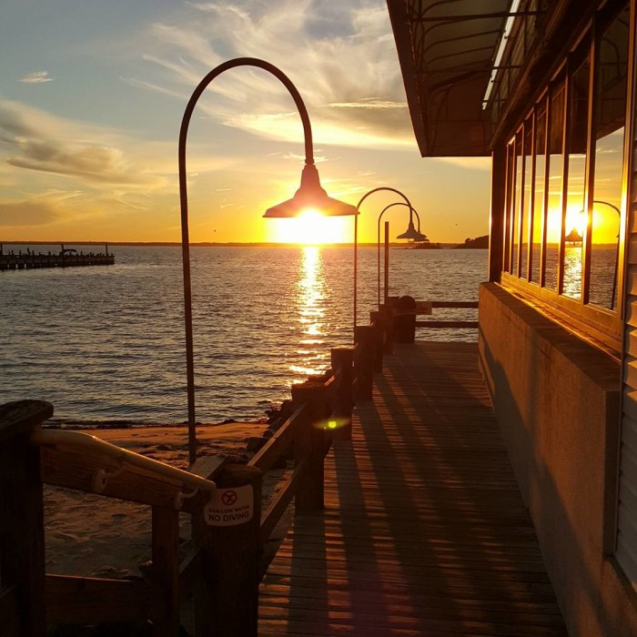 1. The sun sinking over Rehoboth Bay, facing west from the Lighthouse in Dewey Beach (best enjoyed with a drink in hand).