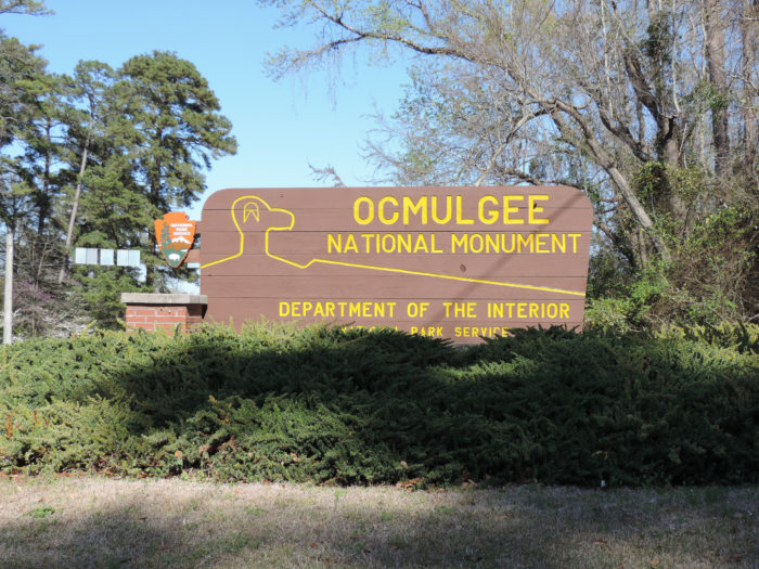 Okay, we've spent enough time indoors today. It's time to head outside to the Ocmulgee National Monument.