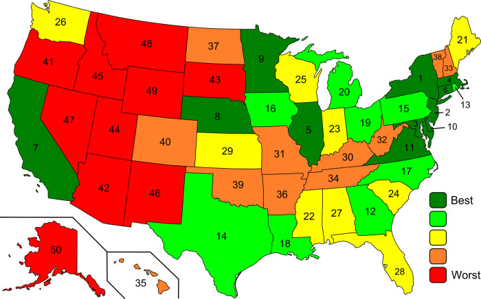 4. Wyoming has the second highest suicide rate in the country. The map shows the U.S. suicide rate by state.