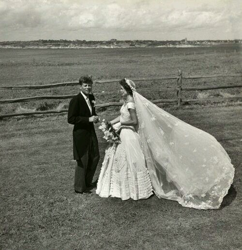 6. The late John F. Kennedy, Jr. and his future wife were married right in...