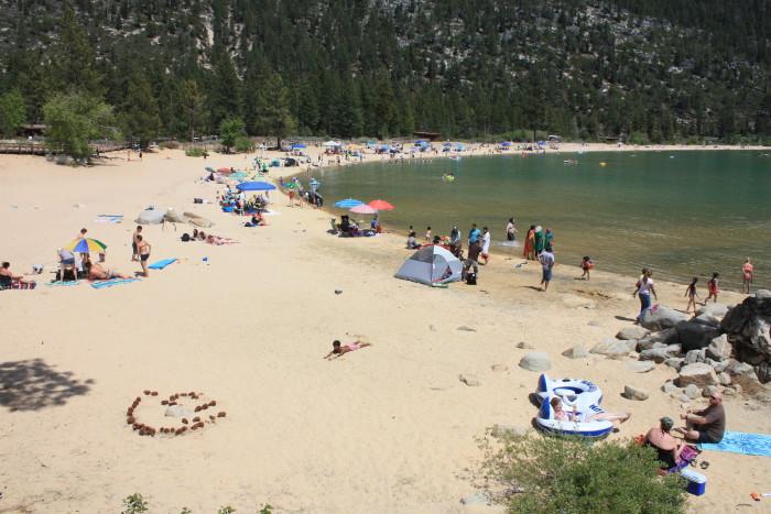 6. Take a dip into Lake Tahoe.