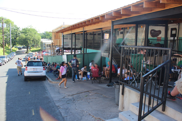 3. That crazy long line at Franklin BBQ - Is the BBQ legendary? We haven't waited long enough to find out!
