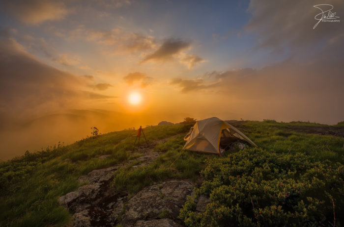 6. Day becomes night right on the TN/NC border at Roan Mountain. What a view to end your day.