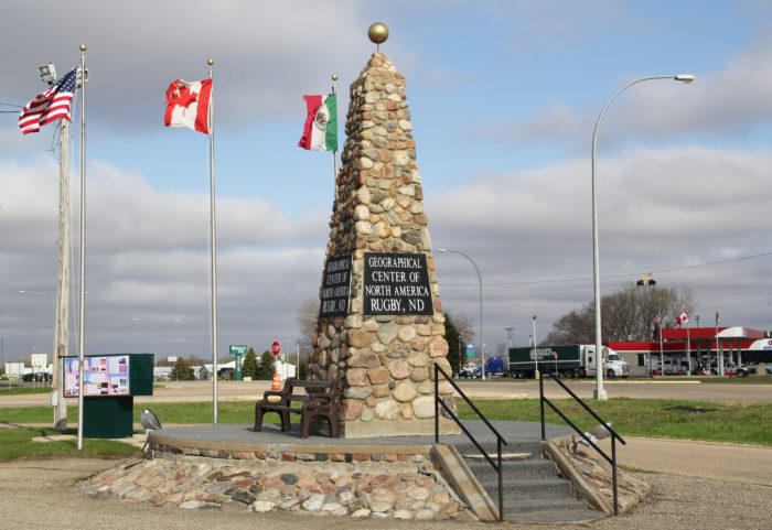 8. The geographical center of North America is closer to Balta, ND than it is to Rugby, ND.