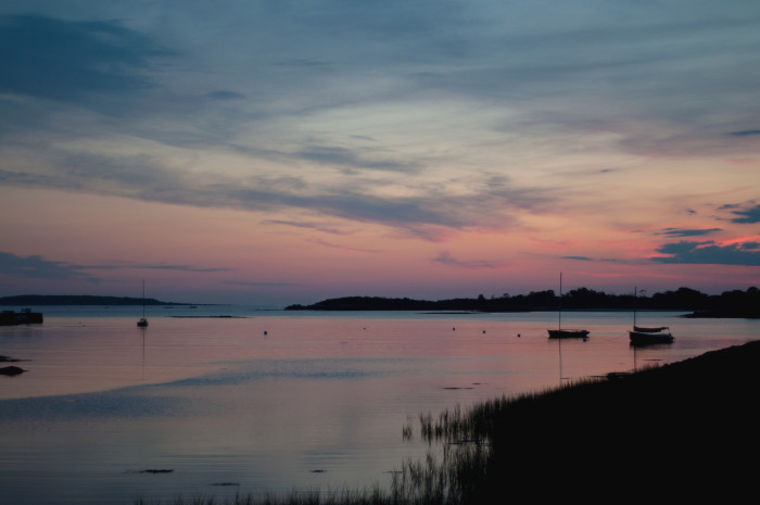 2. The secret behind this view at Cape Porpoise is showing up at 5am for the sunrise.