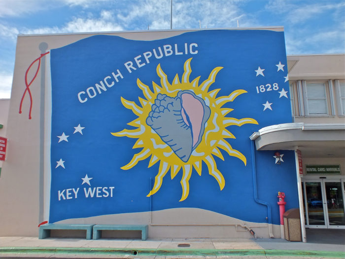 2. Due to an inspection point on US 1 that was hurting tourism in the Keys, Key West declared independence from the US briefly in 1982. The term they used, the Conch Republic, is now used to refer to all of the Florida Keys.