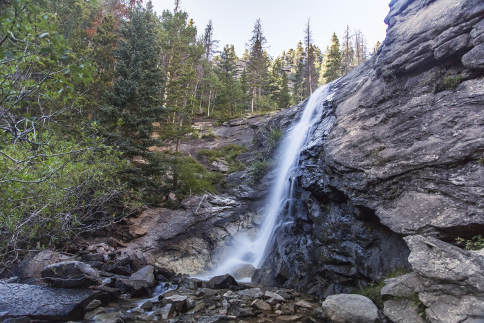 7. Bridal Veil Falls in Rocky Mountain National Park
