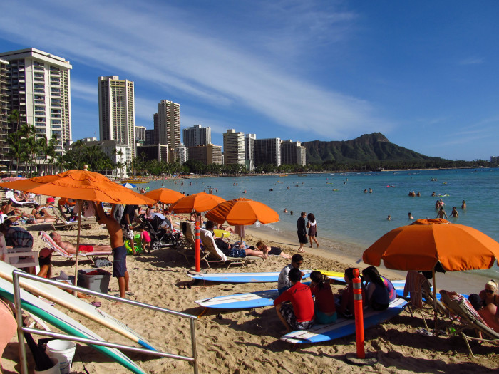 2. Approximately 6 million tourists visit Hawaii every year, and spend a combined 11 billion dollars. Waikiki accounts for approximately 44 percent of those tourists.