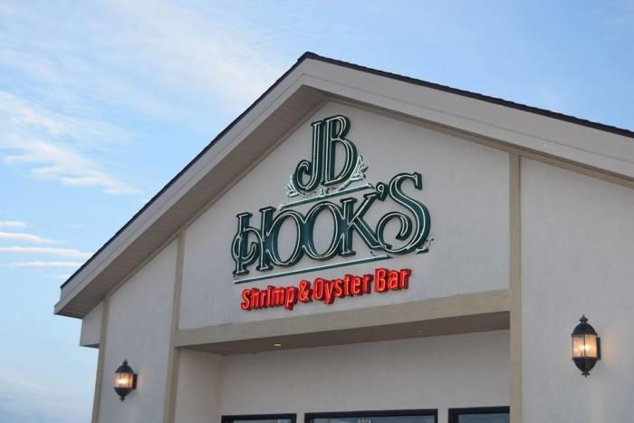 15.  Highest rated restaurant in Lake Ozark:  JB Hook's Restaurant