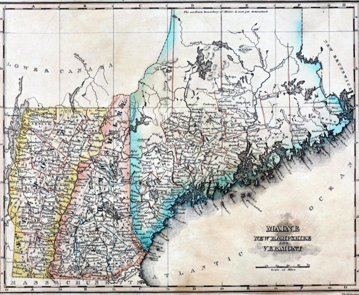 5. A boundary dispute between New Hampshire and Maine was settled by King George of England.