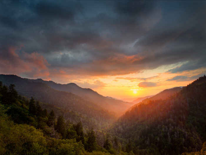 4. Of course, a waterside sunset is beautiful but this sunset in the Smokies is breathtaking.