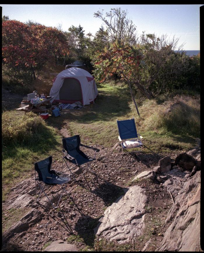 12. Camp on Hermit Island.