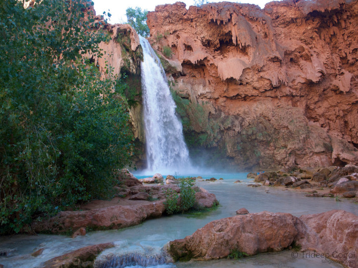 """5. By the way, people do live inside the canyon: the Havasupai, which roughly translates to the """"People of the Blue-Green Waters."""""""