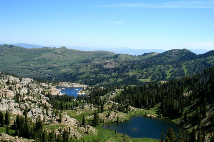 1. Hike to a lake.