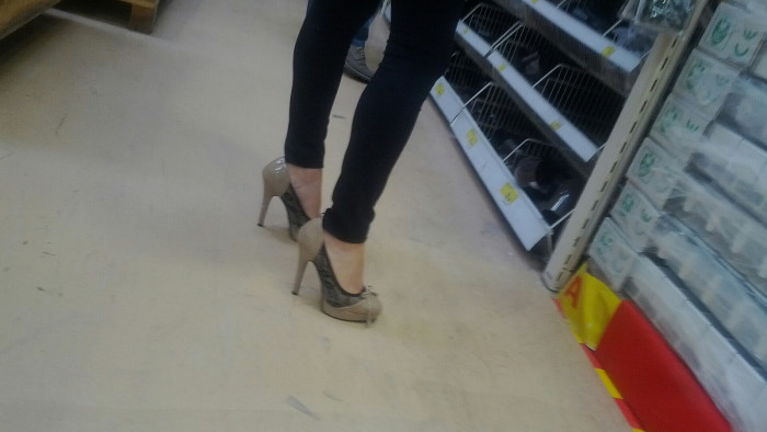 11. They're wearing heels.