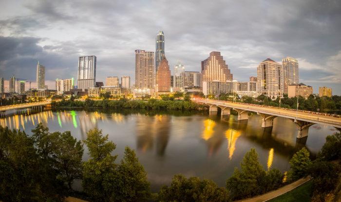 1. That Austin skyline.