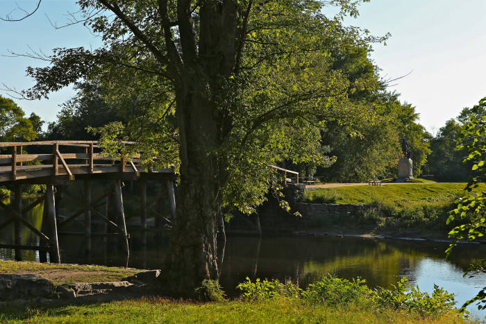 9. Hiking to the beautiful and historic North Bridge in Minute Man National Historic Park in Concord is exercise for your body and your knowledge of Massachusetts history. This was the spot where the first battle of the Revolutionary War was fought.