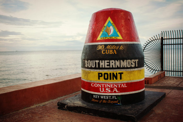 1. Key West is regarded as the Southernmost point in the country that can still be reached by land. In fact, it is closer to Cuba (only 90 miles away) than the city of Miami.