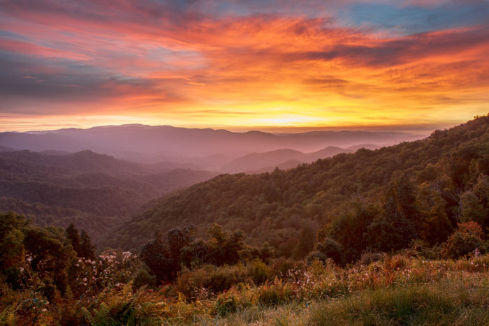 6. I can't think of a better place to be than the Blue Ridge Mountains in the morning.