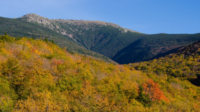 6. Mount Lafayette in Franconia shows the natural contours of the White Mountains.