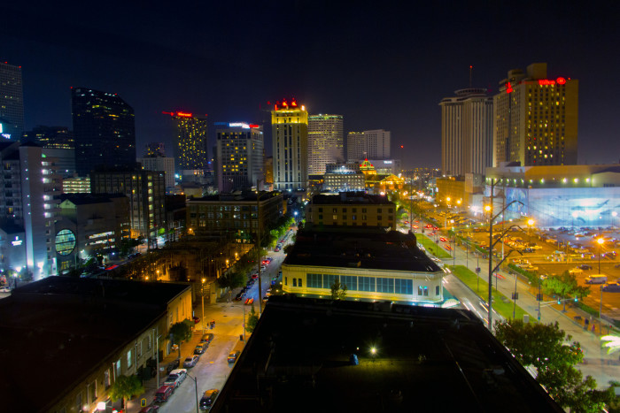 2) View of the Warehouse District