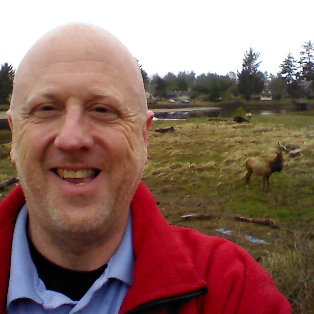 4. They're trying to take a selfie with a herd of elk.