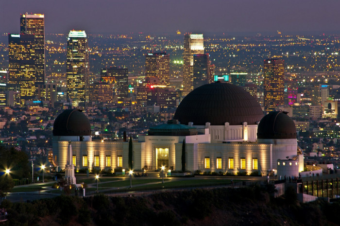 5. Griffith Park Observatory is majestic at night.