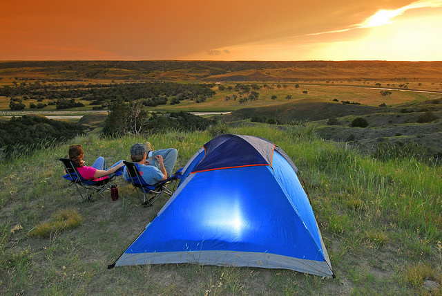 9. Go on a camping trip.