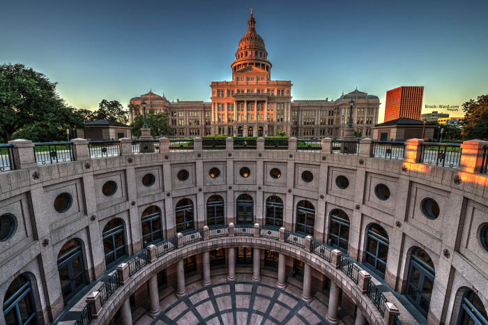 1. The Texas State Capital Building (Austin)